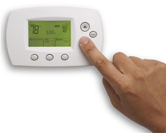 Finger pressing thermostat